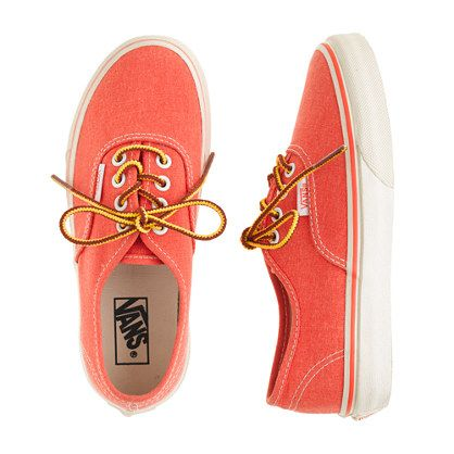 J.Crew - Boys' Vans for crewcuts washed sneakers