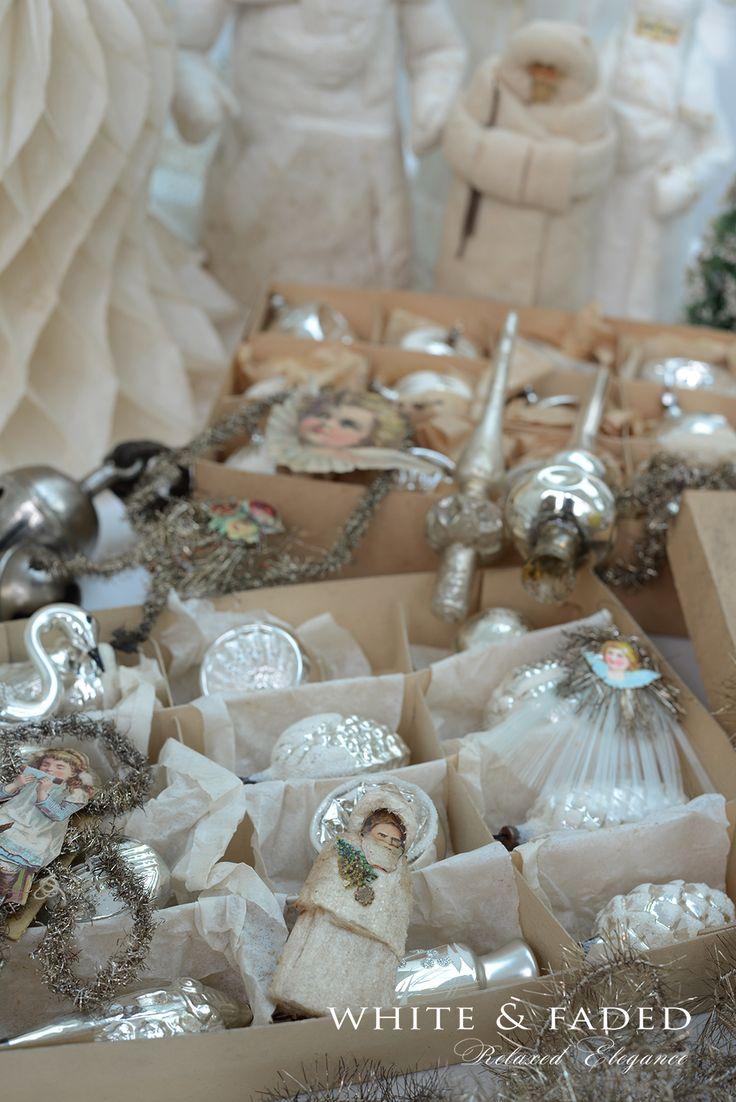 Antique Mercury glass ornaments                                                                                                                                                                                 More