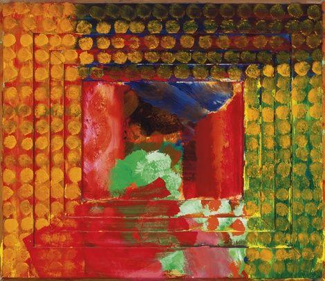 Howard Hodgkin, Portrait Of The Artist,1987 on ArtStack #howard-hodgkin #art