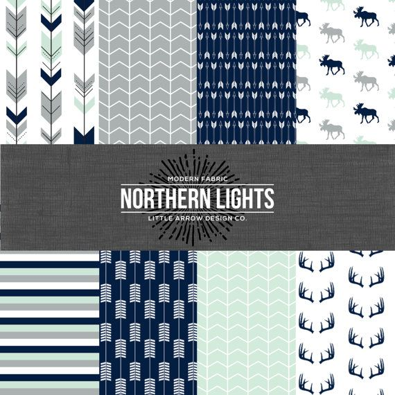 Glacier Woods. Navy, Mint, and Gray Bedding. Woodland Crib Bedding. Boy Crib Bedding. Baby Bedding. Woodland Nursery. Deer Crib Set.