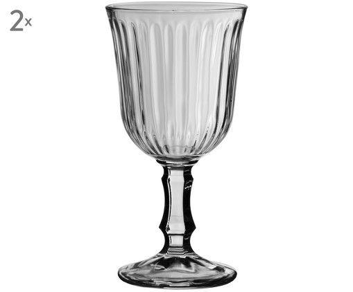 """Setzen sie auf Glamour! Mit der Serie """"Belem"""" von Côté Table gönnen Sie sich royales Feeling im Alltag, das Sie umgehend in Ihren Traumpalast befördert! Lassen Sie sich von dem filigranen Schliff dieser schönen Glasserie beeindrucken. Das Weinglas BELEM macht den Weingenuss zu einem pompösen Ereignis und kommt für romantische Stunden zu zweit im Doppelpack zu Ihnen."""