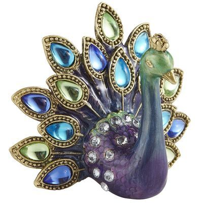Collectible Peacock from Pier 1 Imports - Made of pewter, plastic beads, & acrylic beads
