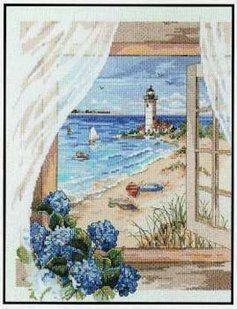 Solo Patrones Punto Cruz 1/7 View of Lighthouse