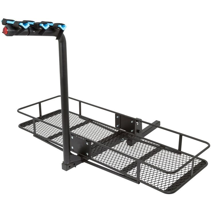 Apex Blue Devil Steel Basket Cargo Carrier & Hitch Bike Rack - 500 lb Capacity