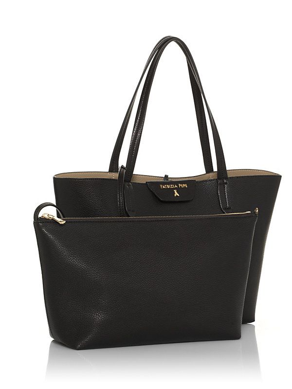 Reversible eco-leather shopping bag - 2V5452- AV63 - Patrizia Pepe