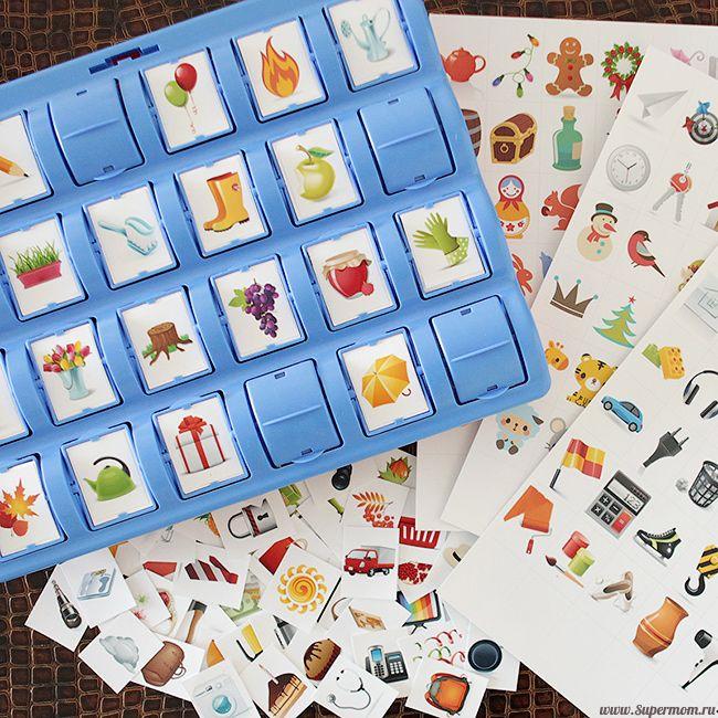 Карточки для цепочки и сетки памяти