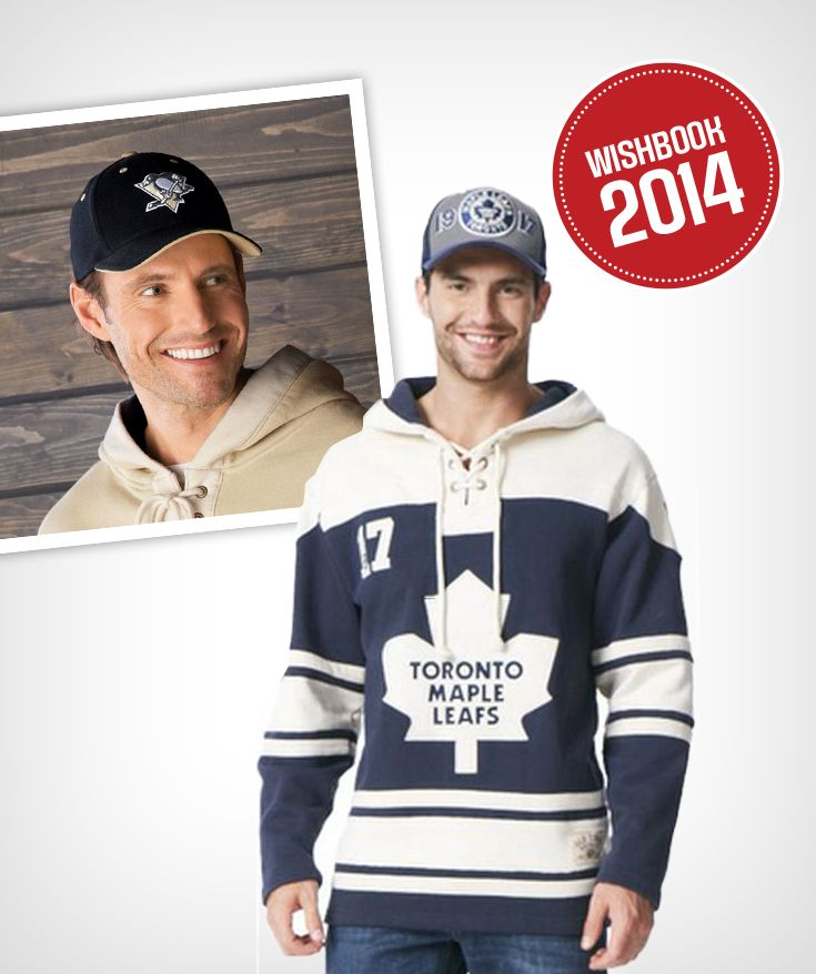 Show your support for your favourite NHL team this hockey season with an old-time style jersey and cap