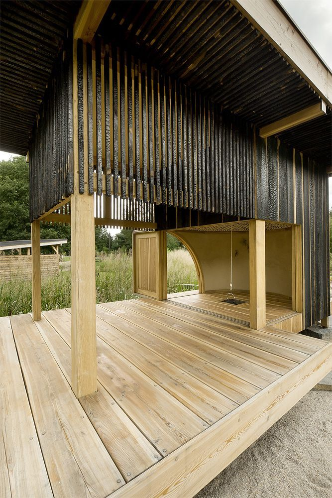 Black Teahouse by Czech architectural studio A1 architekti.
