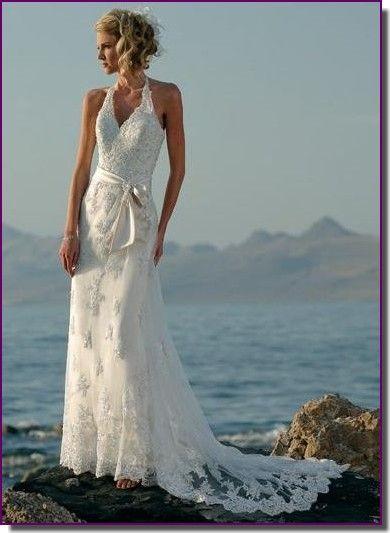 vestido de casamento para festa na praia