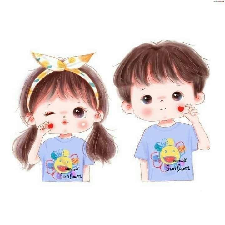 كيوت كرتون رسم بنات كيوت صور شخصيه كيوت Cute Love صور شباب و بنات كيوت Ilustrasi Karakter Gambar Animasi Kartun Kartun