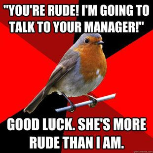 More like, Good Luck, I am the manager.