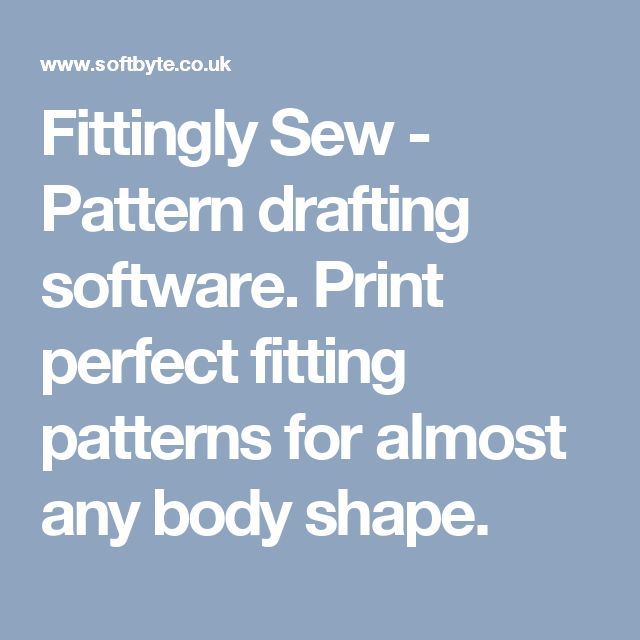Fittingly Sew - Pattern drafting software.