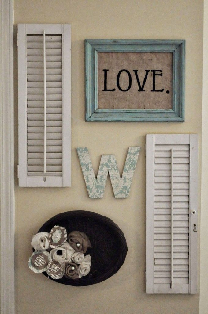 i bought shutters like this from habitat for humanity re store 3 hinged together wall mirror decor ideaswall - Shutter Designs Ideas