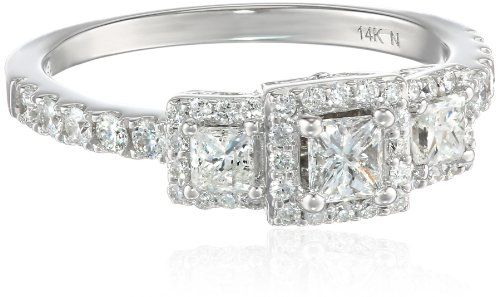 14k White Gold Diamond (1cttw, H-I Color, I2-I3 Clarity) 3-Stone Princess Ring, Size 7 Amazon Curated Collection,http://www.amazon.com/dp/B00GOUZ6WC/ref=cm_sw_r_pi_dp_lXXptb021WHJH0Q5