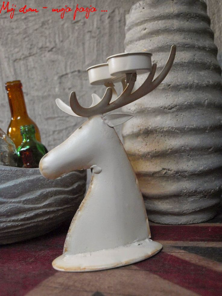 concrete, candlestick, deer, loft, decor, home decor,