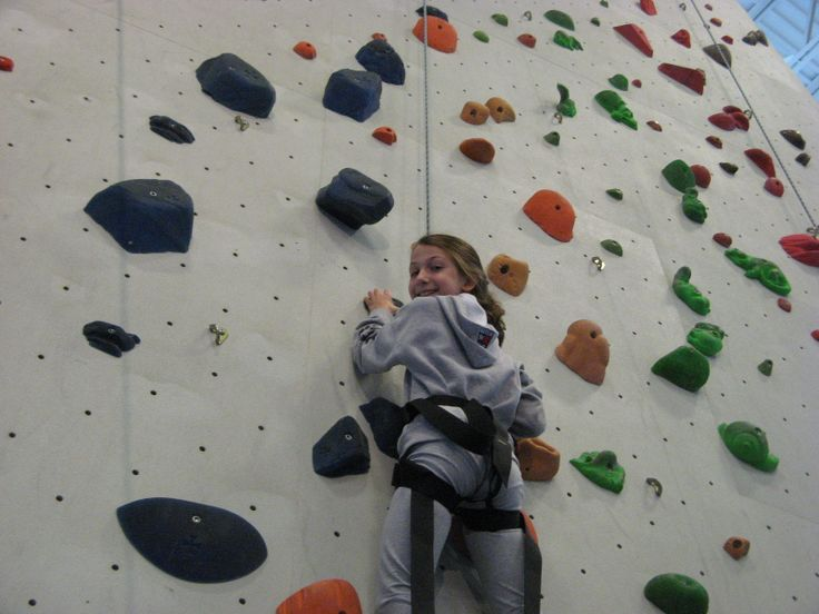 Rock climbing- one of the many off-campus education activities at the Elementary School