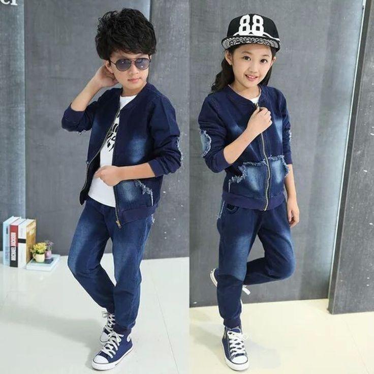 kids jeans for girls boys sets teenage baby jacket children coat +long pant 2 pcs age size resale clothing – BabyShop... -   kids jeans for girls boys sets teenage baby jacket children coat +long pant 2 pcs age size resale clothing – BabyShop   - http://progres-shop.com/kids-jeans-for-girls-boys-sets-teenage-baby-jacket-children-coat-long-pant-2-pcs-age-size-resale-clothing-babyshop/