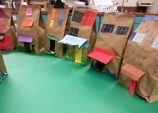 Architecture!! Art with Ms. Gram: Paper Bag Buildings (1st)