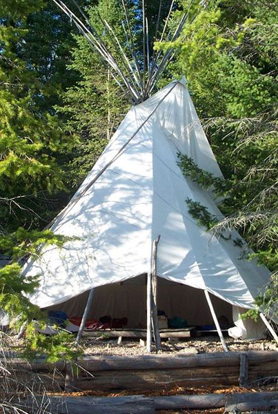 The Tipi Camp is a Nature Retreat  on Kootenay Lake, in south-eastern  BC, Canada.