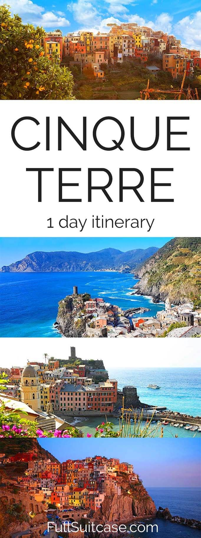 One day itinerary for Cinque Terre in Italy #italy #cinqueterre