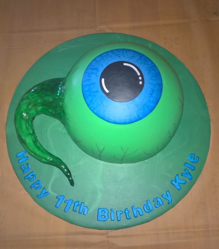 Jacksepticeye cake. Eye ball cake