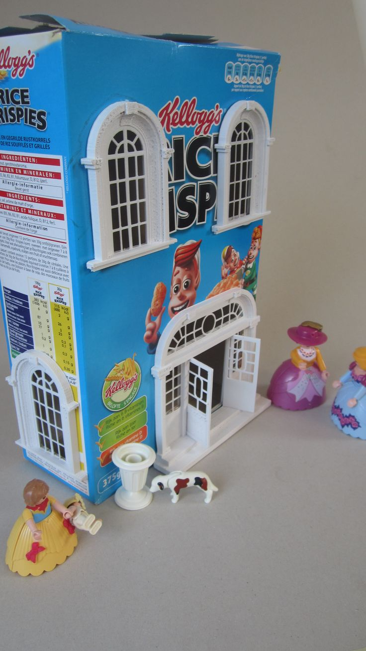 Cereal Box House Designs on cardboard box house, making house, waffle box house, cracker box house,