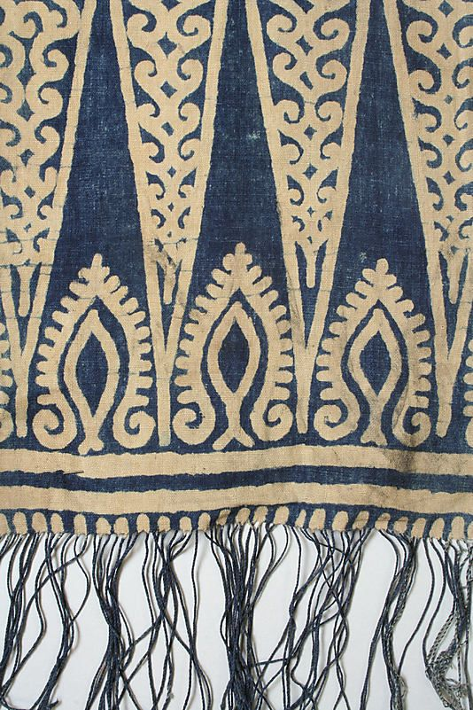 19th–early 20th century Geography: Indonesia, Sulawesi Culture: Toraja Medium: Cotton Dimensions: L. 242 x W. 8 3/4 in. (614.7 x 22.2 cm) Classification: Textiles-Woven