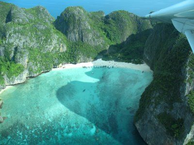 Maya Bay, Koh Phi Phi Le, Thailand. One of the most beautiful places I've ever been to.