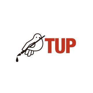 TUP(タップ──平和をめざす翻訳者たち)のロゴ:「らしさ」を損なわない絶妙な組み合わせ | ロゴストック