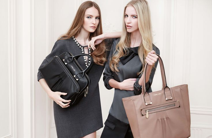 TWIN-SET Simona Barbieri: pleated bag with multiple pockets and detachable shoulder strap, shopping shoulder bag with pockets on front section