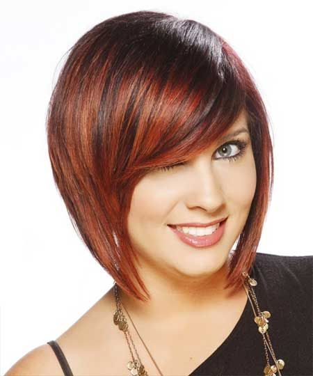 Rote gerade Bob-Frisur