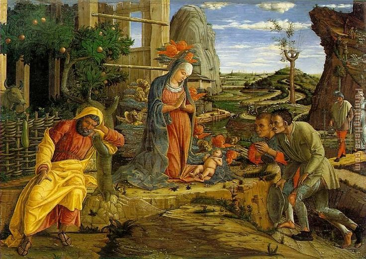Adoration of the Shepherds painting - Andrea Mantegna