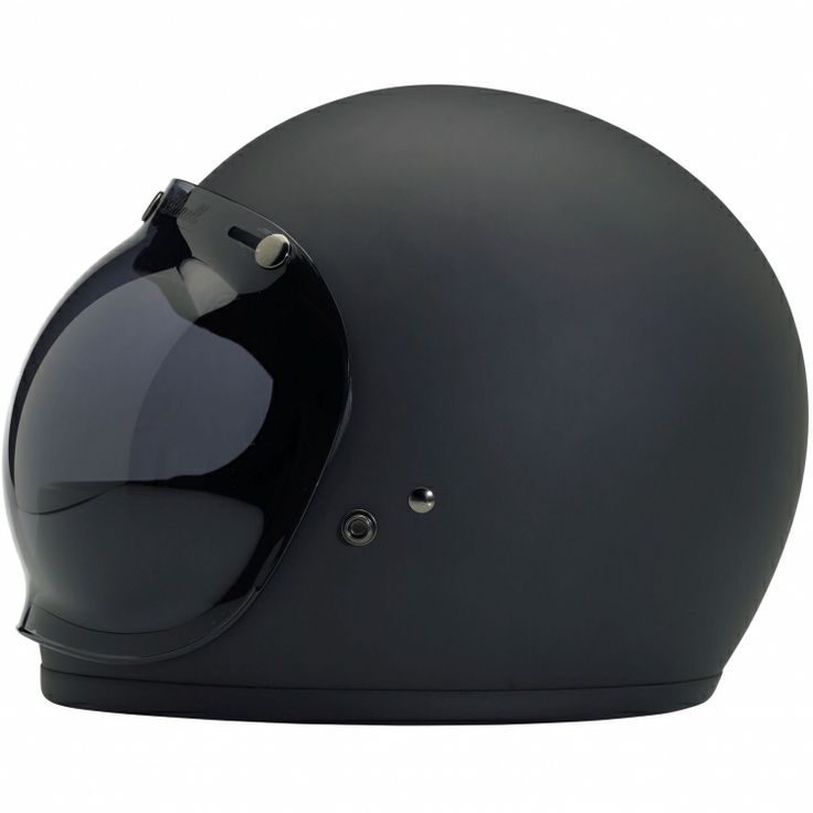Gringo Helmet, 'Flat Black' with Smoke Bubble Shield | Biltwell Inc.