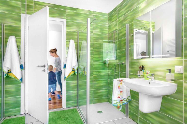 Moderne Dusche In Grün