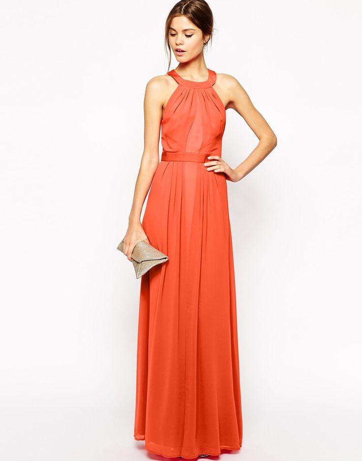 Warehouse pink maxi dress