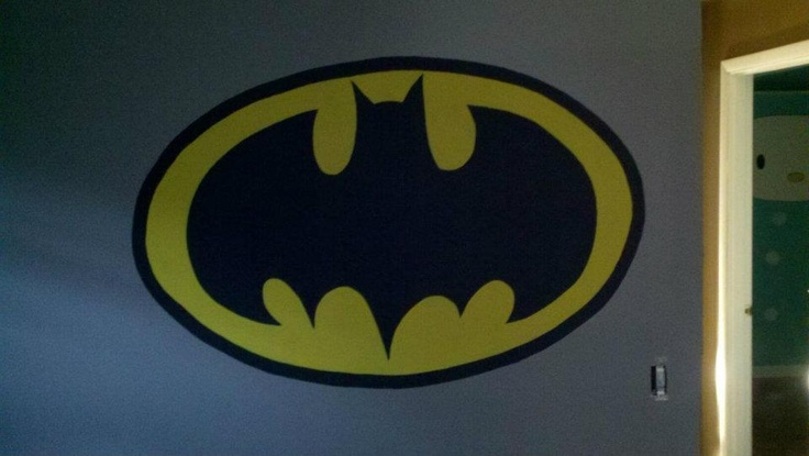 18 best images about super heroes bedroom art on pinterest for Batman wall mural