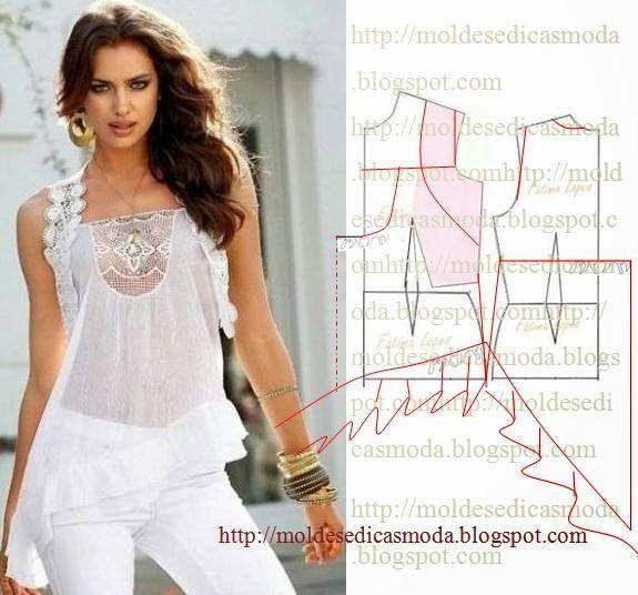 Moldes Moda por Medida: TRANSFORMAÇÃO DE BLUSA-18