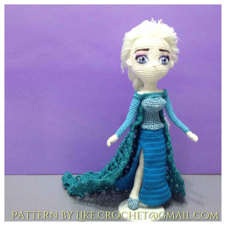 Amigurumi Elsa Tarifi : Frozen Ice Gown Elsa Crocheted Amigurumi patterns by ...