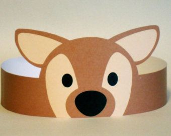 Deer Paper Crown - Printable