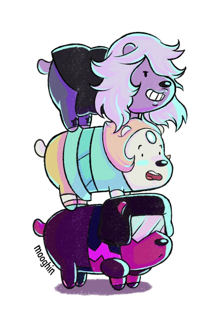 We bare bears. Steven universe. It's creepy how close the bears and the gems personalities are.