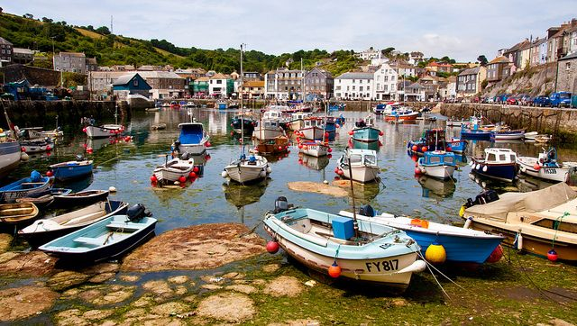 Mevagissey, Cornwall - A working fishing port with a lively harbour.