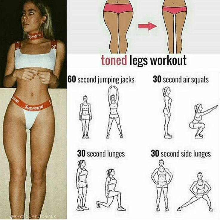 Toned leg workouts Do the exercises as shown in the picture for the most effec…