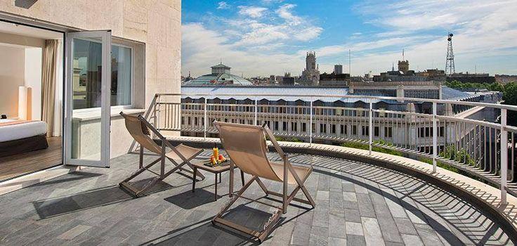 Terraza del Hotel Innside Madrid Suecia con solado de filita JBERNARDOS  http://www.naturpiedra.com/fichaMaterial.php?id=100&tipo=piedras