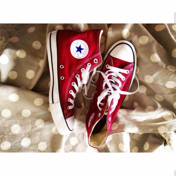 My new converse allstar allstar converse bordeaux pois rosse in my wardrobe new ❤️