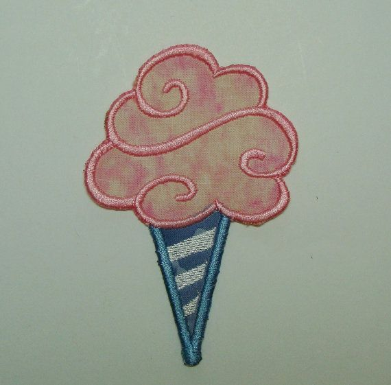 Cotton Candy Embroidered Applique Clothing Patch 100074 on Etsy, $12.00