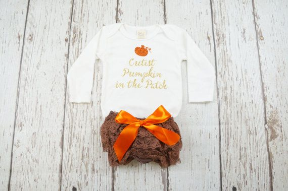 baby girl 1st halloween first halloween outfit by PoshPeanutKids