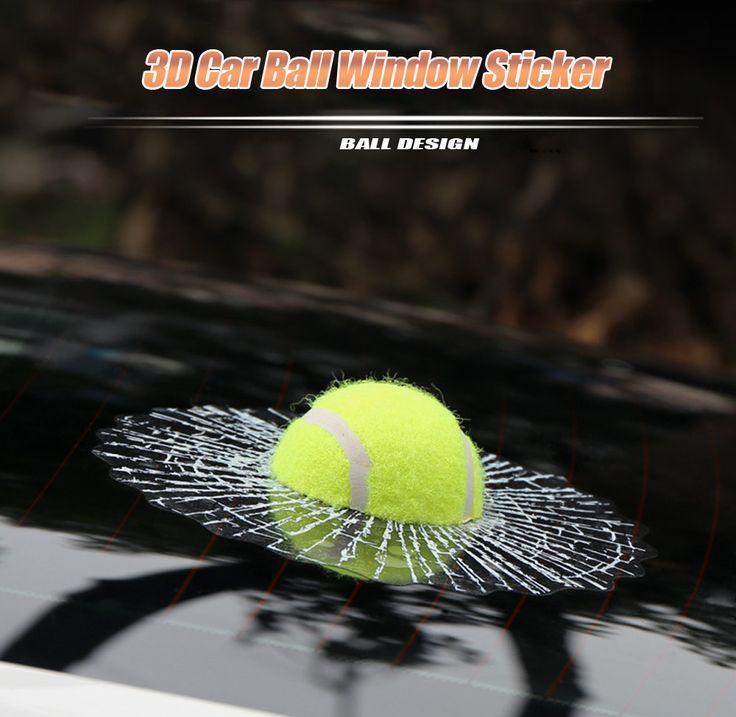 3D Бейсбол Смешные Наклейки Наклейки для Автомобиля Стайлинга Автомобилей Авто мяч Попадает Окна Автомобиля Стикер Дизайн Теннис Автомобилей Тело Само клей