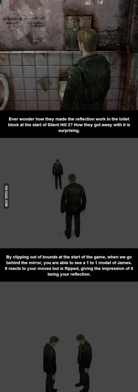 How they made the mirror work in Silent Hill 2...