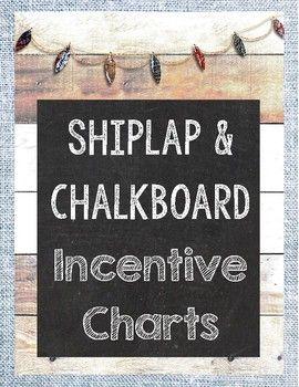 {Freebie} Shiplap and Chalkboard Incentive Charts