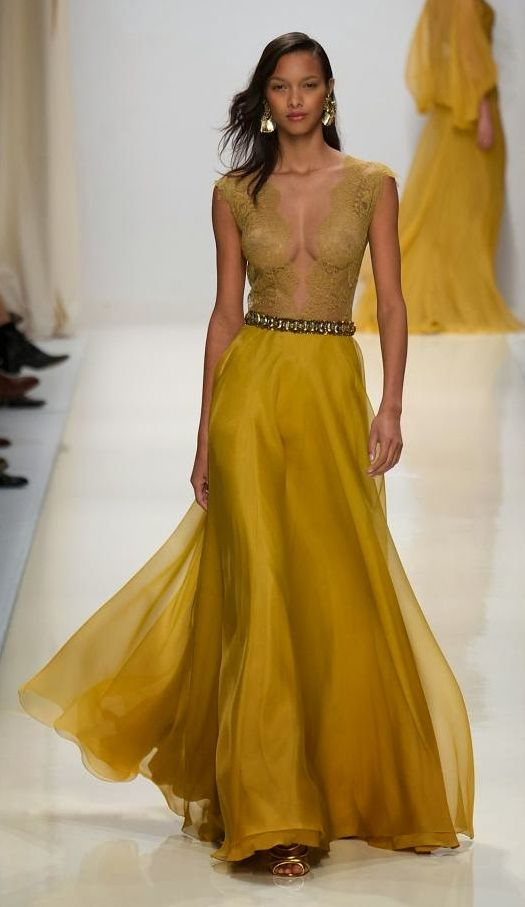 Valentin Yudaskin SS Collection for 2014 - Mustard Yellow ...